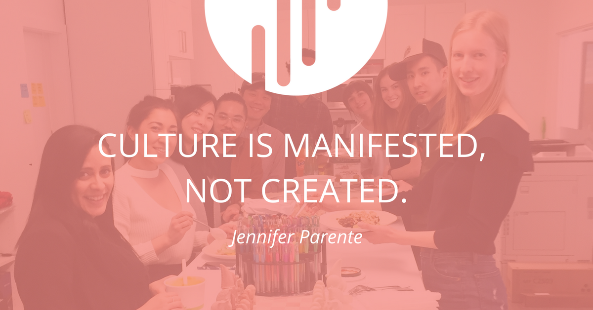 Musings: Culture Is Manifested, Not Created