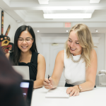 women collaborating for employer branding