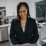 Woman doing human resources
