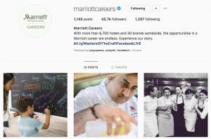 Marriott Careers Employer Brand on Social Media